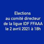 Elections ligue IDF FFAAA